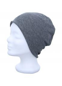 Mütze Micro Polar grey stripes/black